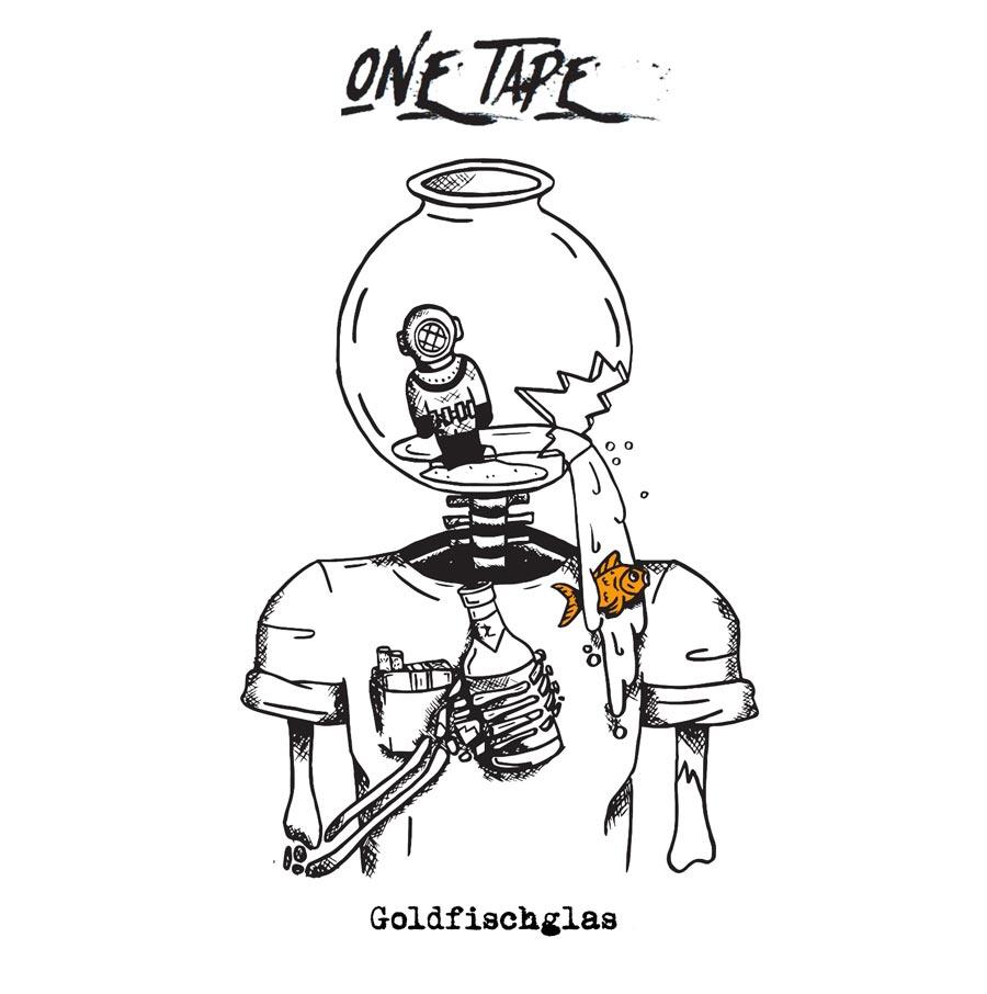 One Tape Goldfischglas